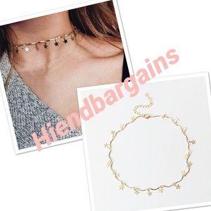 Jewelry - 💕New! Layered dainty stars choker charm necklace